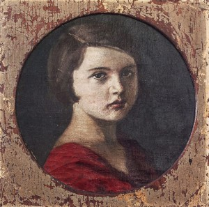 Girls Portrait, 1930s, canvas on cardboard, 38x38