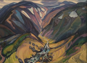Chornohora Mount, 1980, oil on canvas, 110x150