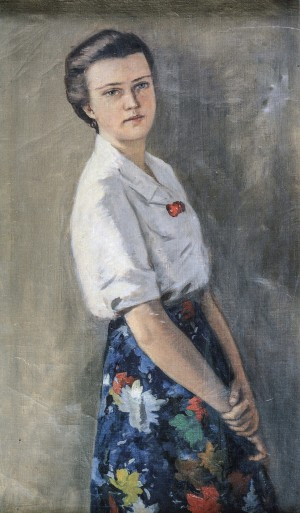 Girls Portrait, 1950s, oil on canvas, 98,5х58