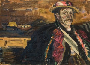 Yurii Fedkovych From Zhabie Village, 1961, oil on cardboard, 55,5х74
