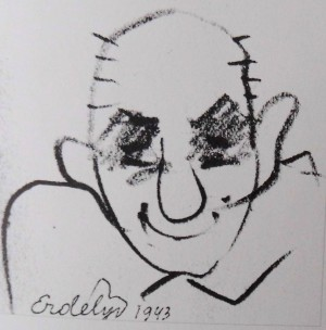 Фрагмент рисунка (Сегед, 1940)