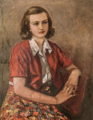 Girls Portrait, 1960s, canvas on plywood, oil, 70х54,5