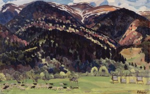 Yaryna (Spring), 1968, oil on canvas, 54x86