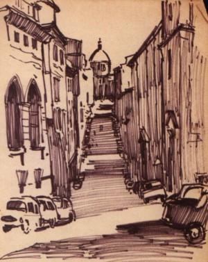 Рим. Via Panisperna, 1964, пап. флом. 32.5х23