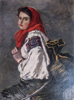 Portrait Of A Daughter, 1957, oil on cardboard, 67х49