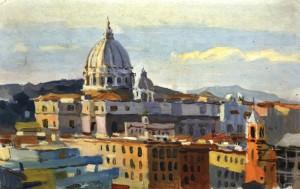 Рим. Вид на собор св. Петра, 1964, к.о. 23х34