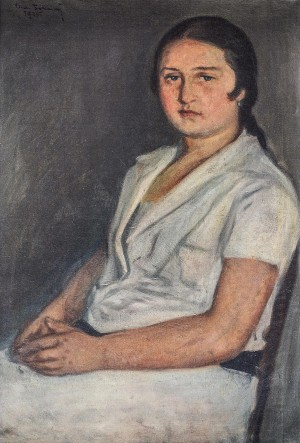 Portrait Of Mykhailo Brashchaikos Wife, 1925, oil on canvas, 88x60
