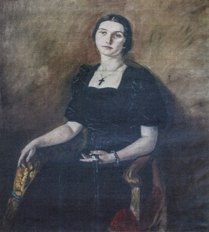 Wifes Portrait, 1930s, oil on canvas, 95x105