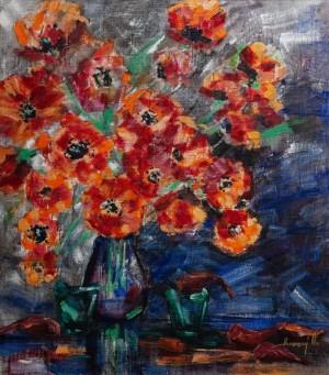 'Poppies', 2016, 75x85