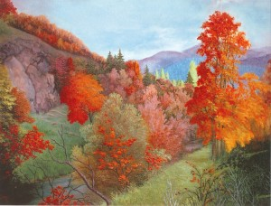 'This Is My Transkarpathia', 2004, oil on canvas, 80x100