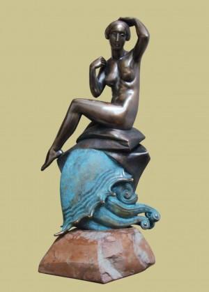 'Ундіна', 2008, бронза, мармур, 40х15х12