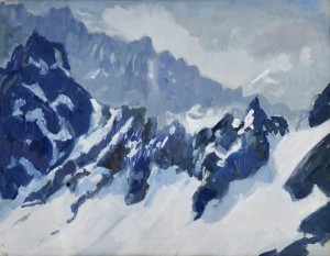 'Winter In The Tatras Mountains', the 1930s, tempera on paper, 40x53.jpg