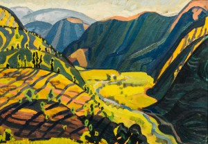 Sunny valley, 1961, cardboard, oil, 49,5х69,5