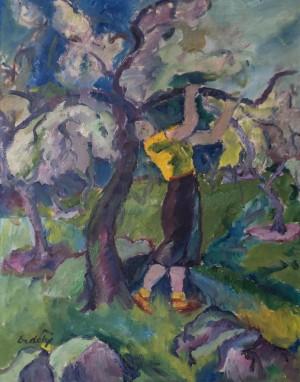 Жінка в саду, 1937, п.о