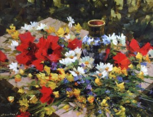 Summer Still Life, 2005, oil on canvas, 70x95