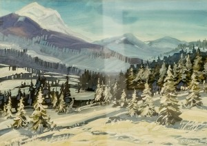 V. Hanzel 'Snowy Firs', 2017