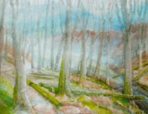 Autumn, 2011, watercolour on watman, 56х74