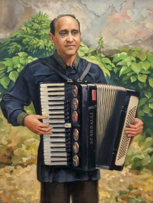 'Ihnatii Accordionist', 2010, oil on canvas, 65x50
