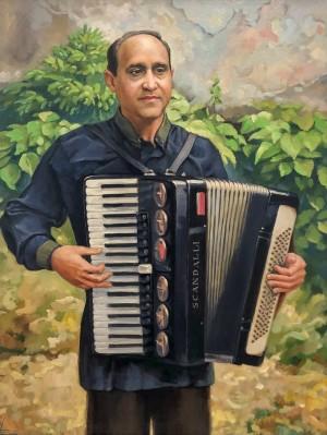'Ігнатій акордеоніст', 2010, п.о., 65х50