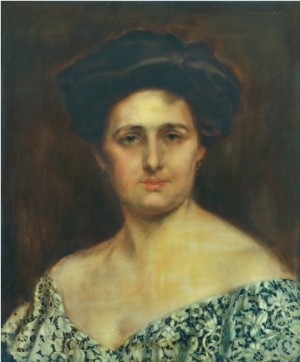 Жіночий портрет, дерево.о., 55х45