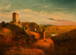 The Karlstein Castle,2004, oil on canvas, 85x115