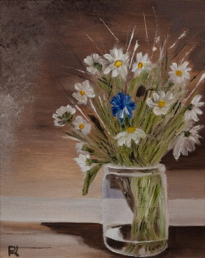 'Wildflowers From Vyshka Village', 2017, oil on canvas