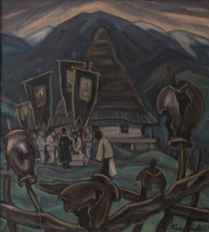 E. Kontratovych  Work in the field, 1974
