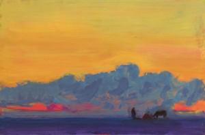 A. Kryvolap Romantic landscape, 2008, c.о. 80х120
