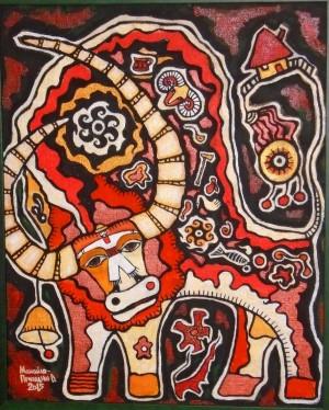 Kolomyika Song, 2015, acrylic on canvas, 50x40