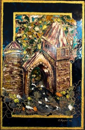 Врата мого Раю, 2009, скло, фарби по склу