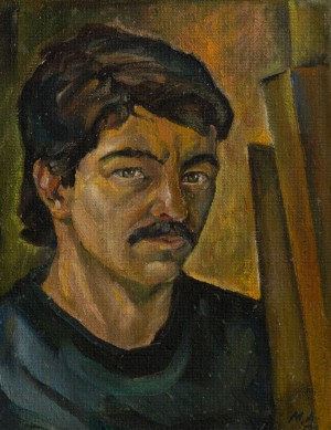 A. Mukhomedianov Self-Portrait', 1986, oil on cardboard, 33x43