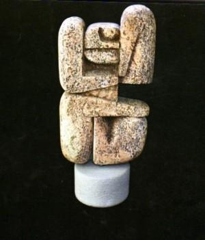 Медитація, 1996, туф, тонування, 25х13х8