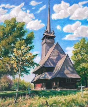 Церква у с. Данилово, 2006, п.о., 60х53
