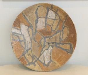 'Decorative Plate', chamotte, salt, mixed technique, D=42,6
