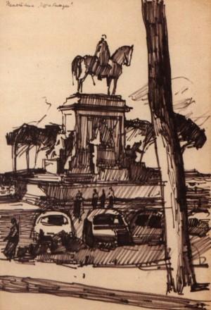 Рим. Пам'ятник Гарібальді, 1964, пап. флом. 32,5х23