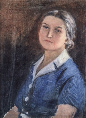 Wifes Portrait, 1950s, oil on canvas, 55x40