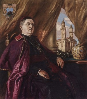 Portrait Of Bishop Stoic, 1934, oil on canvas, 116x100