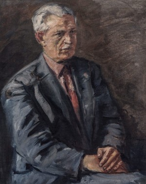 Portrait Of M. Hrabar, 1962, oil on canvas, 57x46