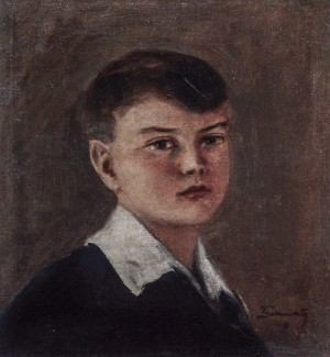 Sons Portrait, the beginning of 1940s, oil on canvas, 40х35,5