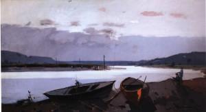 Річковий пейзаж, сер. 1960-х, п.о. 75х135