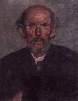Portrait Of An Old Man, 1920s, oil on cardboard, 50х39,5