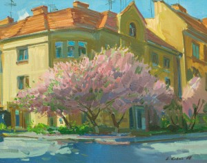 Cherry Blossoms, 2006, oil on canvas, 50x65