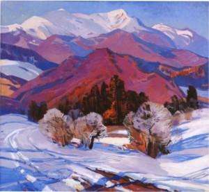 Рожеві полонини, 1975, п.о. 109х119
