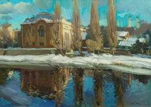 Зимовий Ужгород, 2006, п.о., 50х69