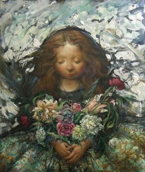 Quiet Wind-White Petals, 2012, 80х70
