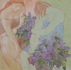 L. Korzh-Radko. Lilac, 2015, mixed technique on canvas