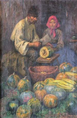 Traders Of Fruits And Vegetables, oil on canvas, 105х72,5