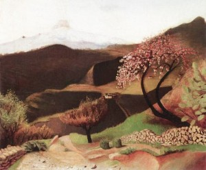 Blossoming Almonds (Landscape in Italy) 1901