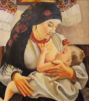 "Фурман М. ""Материнство"", 2017, п.о., 63х57"