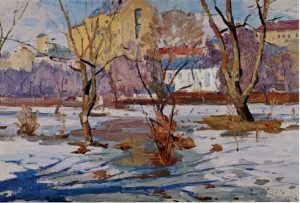 Early Spring, 1956, oil on cardboard, 49,7х70,5